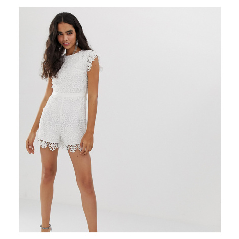 Miss Selfridge lace playsuit in white