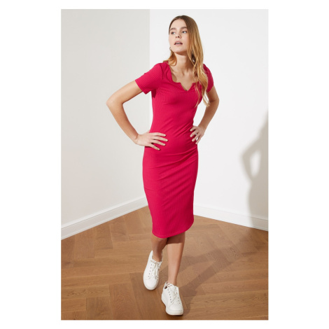 Trendyol Pushhya Fit Mini Knitted Dress