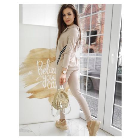 Women´s sweat suit AURA beige AY0426 DStreet