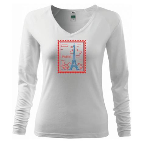 Paříž známka jednoduchá - Triko dámské Elegance