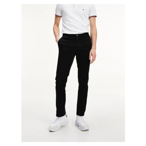 Tommy Hilfiger pánské černé kalhoty Denton