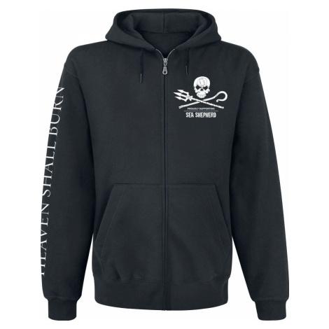 Heaven Shall Burn Sea Shepherd Cooperation - For The Oceans Mikina s kapucí na zip černá