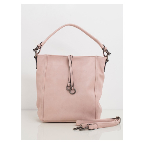 Light pink eco leather handbag Fashionhunters
