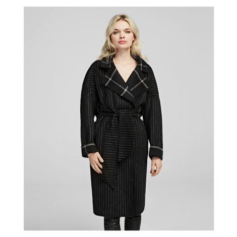 Kabát Karl Lagerfeld Double Face Wrap Coat - Různobarevná
