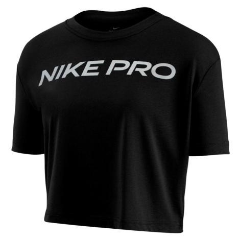 Dámské tričko Nike Dry Tee Pro SS Crop černé