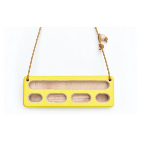 Přenosný hangboard Crimp Travel žlutá