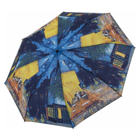 Kvalitní plně automatický dámský skládací deštník Van Gogh Kavárna Doppler