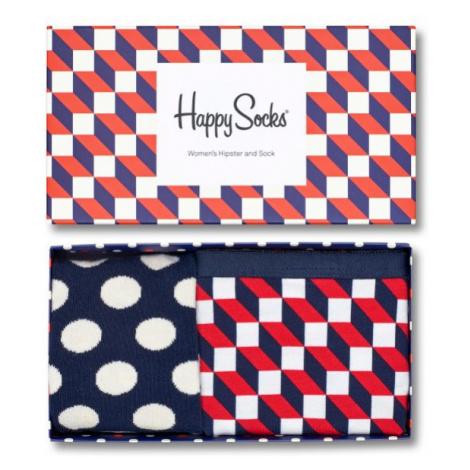 Dárkový box ponožek a kalhotek Happy Socks Combo Filled Optic - 2 páry