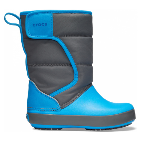 Crocs LodgePoint Snow Boot K Slate Grey/Ocean C6