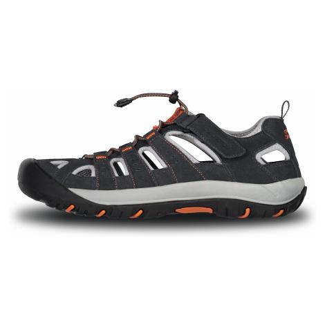 Nordblanc Orbit pánské kožené sandály šedé