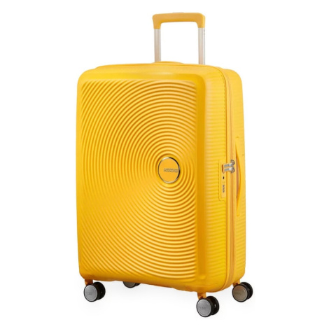 American Tourister Cestovní kufr Soundbox Spinner EXP 32G 71,5/81 l - golden yellow