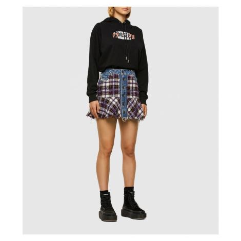 Sukně Diesel O-Beth-Bucle Skirt - Modrá