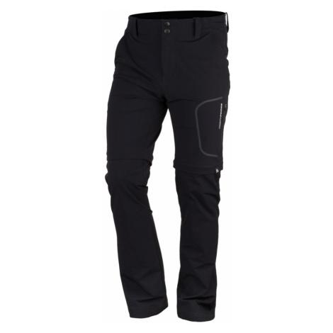 NORTHFINDER KAKELO Pánské trekingové kalhoty 2v1 - odepínací NO-3693OR269 černá