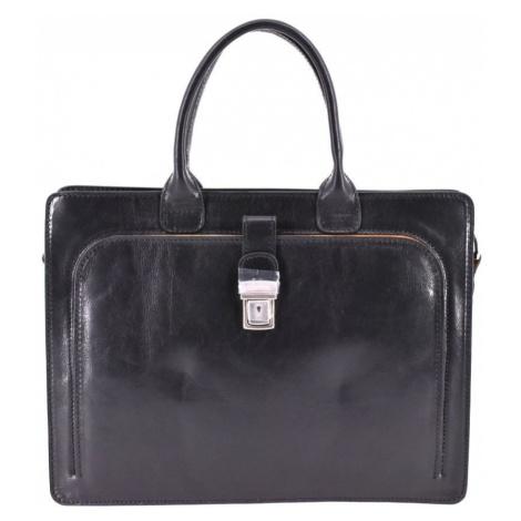 Dámská kožená kabelka/aktovka Arteddy - černá