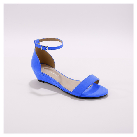Blancheporte Sandály na klínku, modré modrá