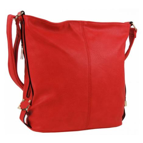 Červená velká crossbody kabelka se stříbrnými doplňky Alvie Mahel