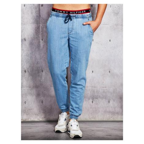 Modré pánské džíny s lemem FPrice