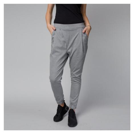 Dámské stylové kalhoty světle šedé barvy 12462 Willsoor