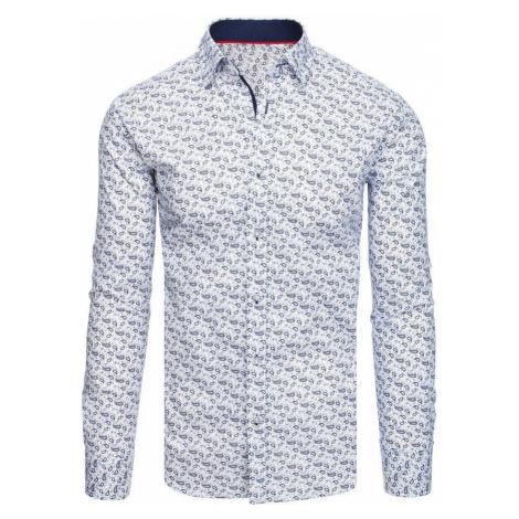 Dstreet Trendová bílá košile se vzorem