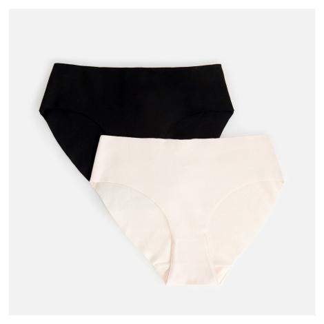 Reserved - Sada 2 kalhotek střihu bikini s vysokým podílem organické bavlny - Černý