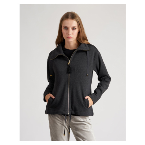 Mikina La Martina Woman Fleece Lurex Fleece - Černá
