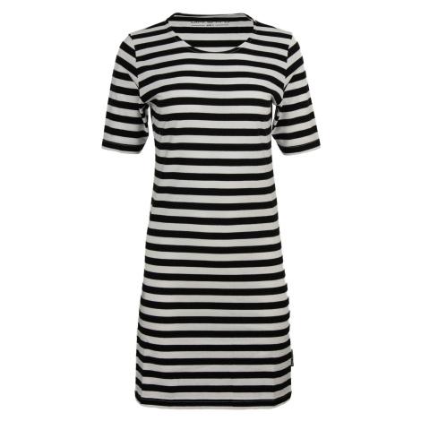 Dámské šaty Alpine Pro EKRA - černo-bílá
