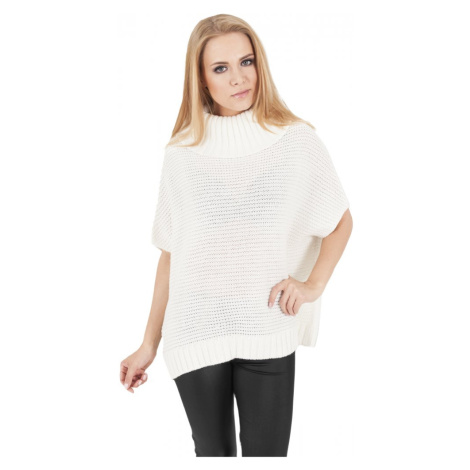 Ladies Knitted Poncho - offwhite Urban Classics
