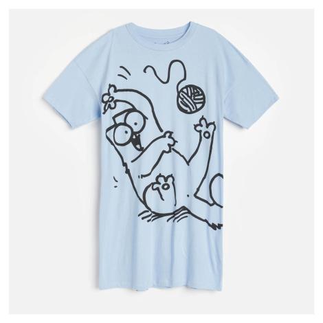 Reserved - Noční košile Simon's Cat - Modrá