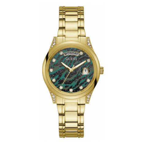 Guess zlaté hodinky Animal Print