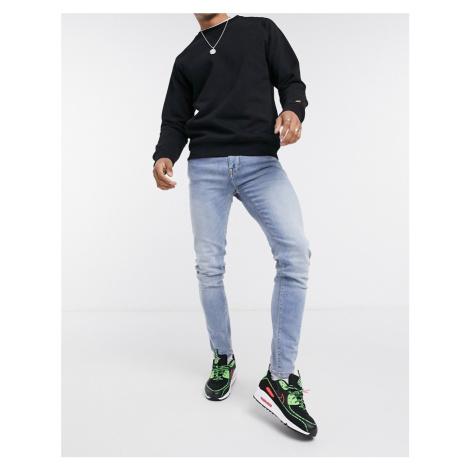 Celio skinny jeans in blue acid wash