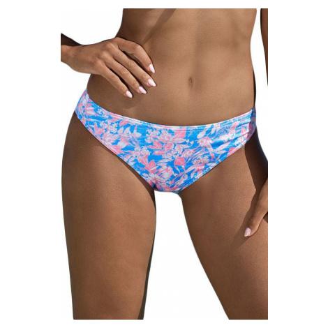Lorin Plavkové kalhotky Sadie modré, růžové květiny