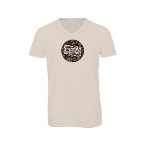 Pánské triko s výstřihem do V Pražská kavárna
