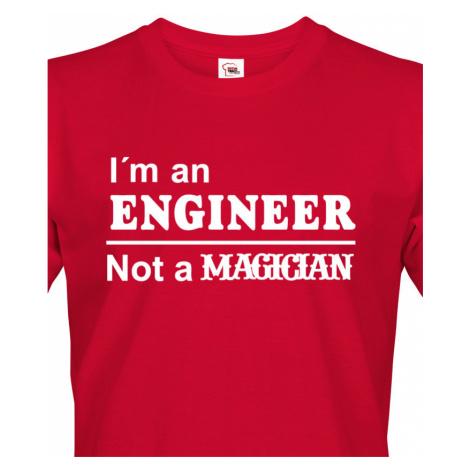 Pánské tričko s potiskem I am an engineer - dárek pro inženýra BezvaTriko
