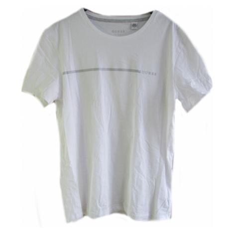 Pánské triko GUESS U92G10 bílé | bílá