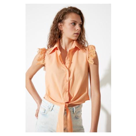 Trendyol Peach Shoulder Detail shirt