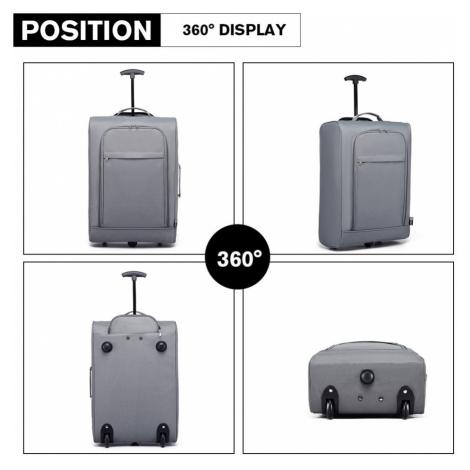 Šedý cestovní látkový kufr / kabela Ancu Lulu Bags