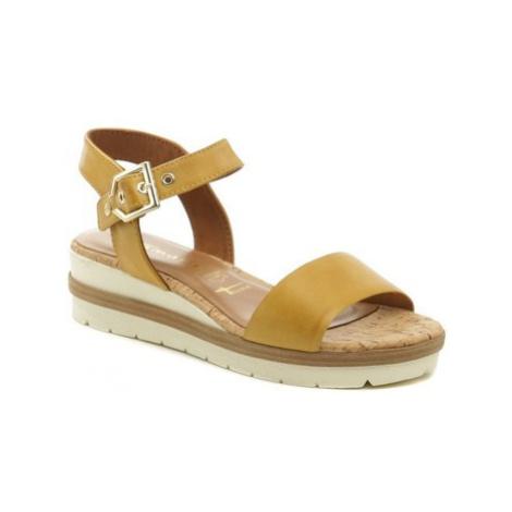 Tamaris 1-28222-24 okrová dámská letní obuv Béžová