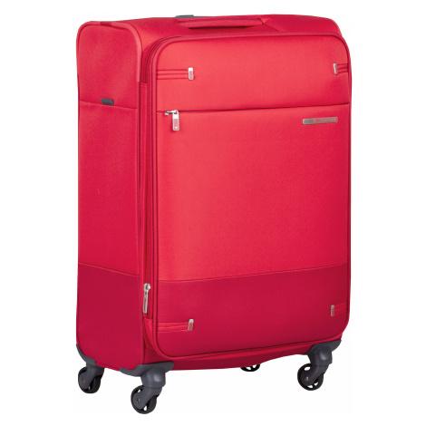 Červený střední textilní kufr Samsonite