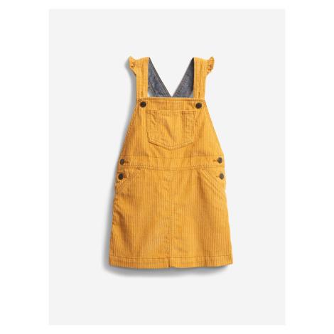 Šaty s laclem dětské GAP Žlutá