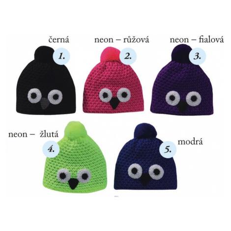 Pletex H060 Sova dětská pletená zimní čepice Barva: fialová