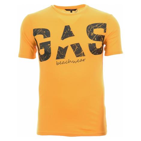 Pánské žluté tričko s potiskem Gas