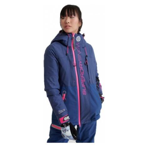 Superdry SLALOM SLICE SKI JACKET tmavě modrá - Dámská lyžařská bunda