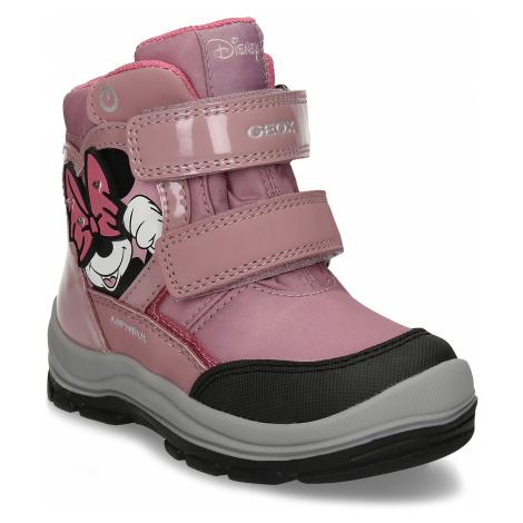 Růžová dívčí zimní obuv s Minnie Mouse Geox