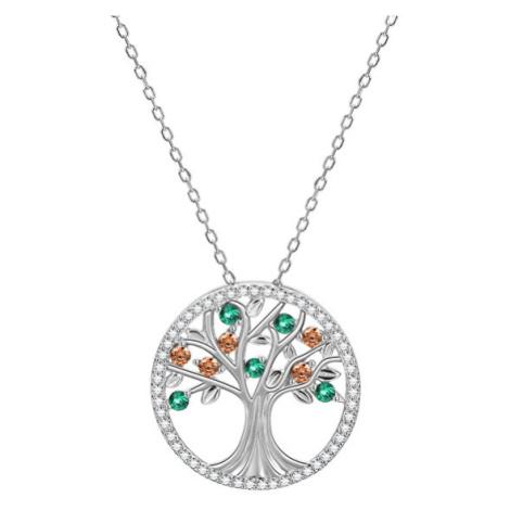 Beneto Stříbrný náhrdelník se stromem života AGS1139/47