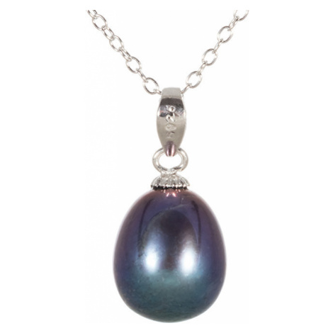 JwL Luxury Pearls Přívěsek s pravou modrou perlou JL0439