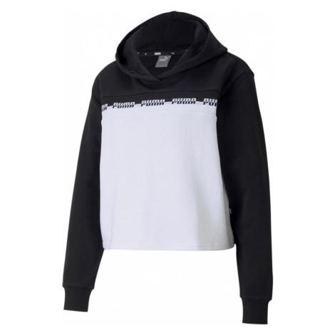 Dámská mikina Puma Amplified Cropped Hoodie Černá / Bílá