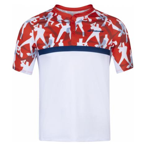 Pánské tričko Babolat Compete Polo White/Red