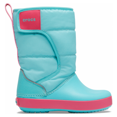 Crocs LodgePoint Snow Boot K Ice Blue/Pool C6