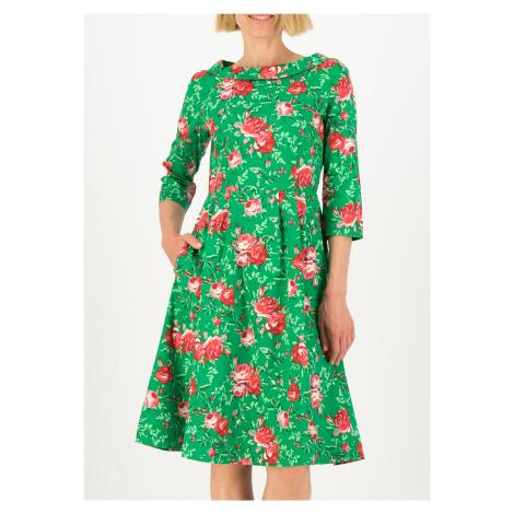 Letní udržitelné šaty zelené Blutsgeschwister Zahradní ráj