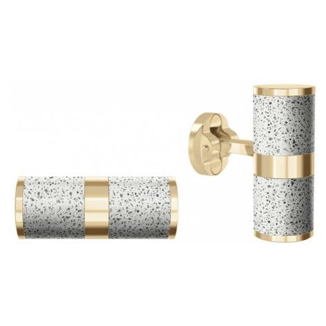 Manžetové knoflíčky Unity – světle šedá – zlato Gravelli